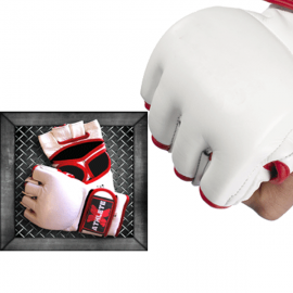 White Leather Gloves - *3