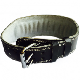 Athlete-X Lumbar Support Leather Gym Belt