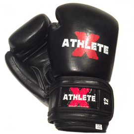 Athlete-X Boxing Gloves Leather Black / Black