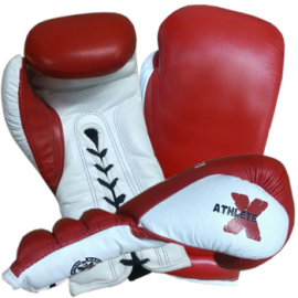 Athlete-X Boxing Gloves Leather Laceup