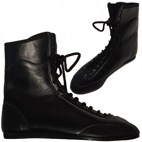 Athlete-X Boxing Boots Leather Black