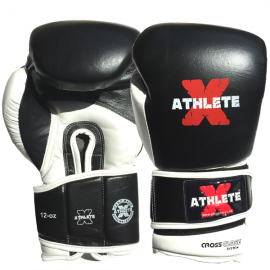Athlete-X Boxing Gloves Leather Black / White