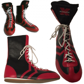 Athlete-X Boxing Boots Leather *Red/Black